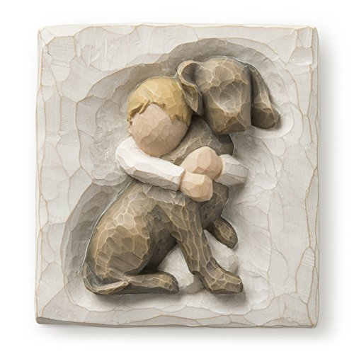(Willow Tree hand-painted sculpted Plaque, Hug (26513))