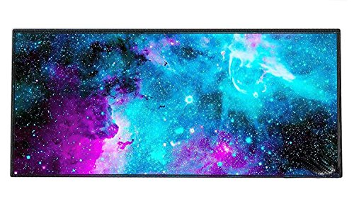 MUEQU Extended Gaming Mouse Pad, Mouse Pad Gamer Large Size Waterproof Mouse Mat 900x400x2mm Non-Slip Rubber Base Edge Stitched Mouse Mat for Computer PC and Laptop (Galaxy Star)