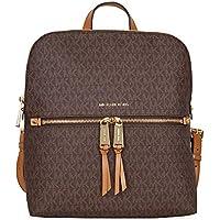 MICHAEL Michael Kors Rhea Medium Slim Backpack (Signature Brown)