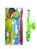 Angry Birds Toothbrush with Cap and Travel Pouch
