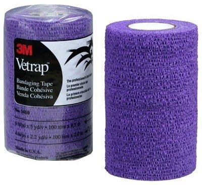 "Vetrap by 3M - Bandaging Tape - 4"" x 5 yd - Purple - USA"