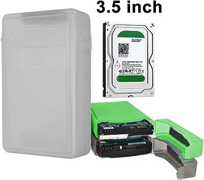 Normal 3,5 Pulgadas Disco Duro del Caso del recinto de Disco Duro SATA IDE de plástico Caja de Almacenamiento (Naranja), Elegante y Compacto, fácil de Llevar. (Color : Grey): Amazon.es: Electrónica