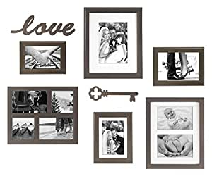 MCS 8pc Frame Set with Love and Key Plaques, Bronze (65624)
