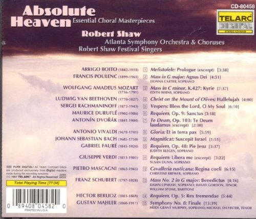 Absolute Heaven: Essential Choral Masterpieces