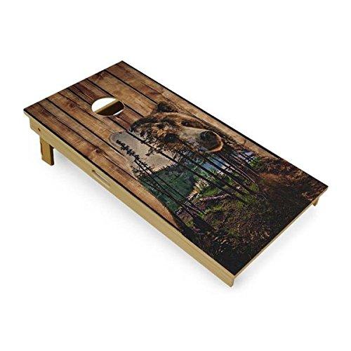 Slick Woody's Bear Mountain Cornhole Board Set 4' by 2' Tournament size by Slick Woody's Cornhole Co.