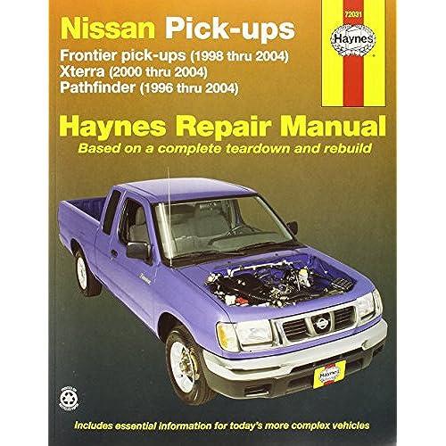 Nissan frontier pickup 98 04 pathfinder 96 04 xterra 00 04 nissan frontier pickup 98 04 pathfinder 96 04 xterra 00 04 haynes repair manuals haynes 9781563926105 amazon books fandeluxe Gallery