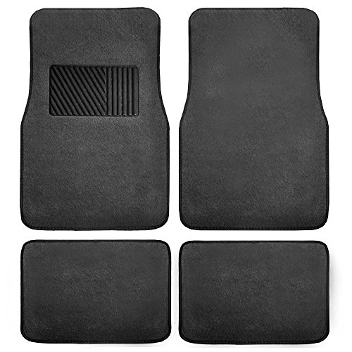 YEAR END SALE: FH GROUP F14403 Carpet Floor Mats with Heel Pad- Fit Most Car, Truck, Suv, or Van (Bmw 528i Car Mats)