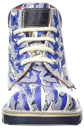 Kickers Joules Junior Blue Leather Kick Hi Boots
