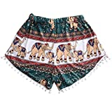 Short pants,Toraway Women Casual Summer Hot Printed Pants Beach Short Pants (Small, Multicolor)