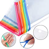 EOOUT 12pcs Poly Zip Binder Pockets Poly