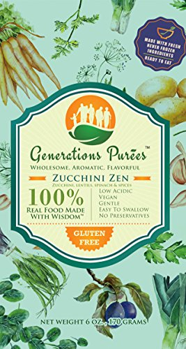 Generations MultiGen Purees, Pureed Vegetable Meals for Adults and Children, Healthy 6 Ounce Portion of Pureed Food