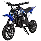 KidsFunWorld 49CC 2-Stroke Gas Power Mini Pocket Dirt Bike Dirt Off Road Motorcycle Ride-on (Blue)