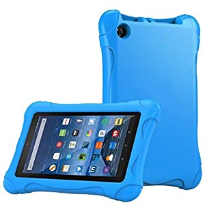 Fire HD 7 Case,AutumnFall Kids Shock Proof Case Cover for Fire HD 7 Tablet 2015(Blue)