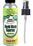 US Organic Mosquito Repellent Anti Bug Outdoor Pump Sprays, 2 Ounces Travel Size, USDA Certification, Cruelty Free, Proven results by Lab testing, Deet-Free