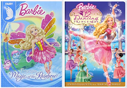 (Fairy Music Barbie The 12 Dancing Princesses + Fairytopia Magic of the Rainbow 2 Pack Girls Fun Cartoon DVD Double Feature)
