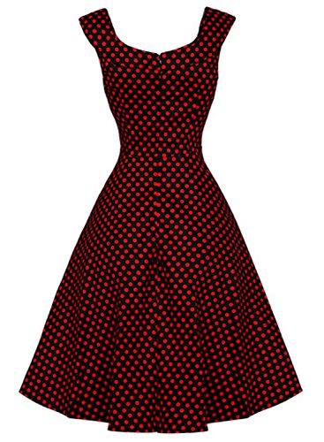 Futurino - Vestido - para mujer Lunar Rojo