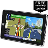 Car GPS Navigation 7 inch Touch Screen Voice Reminding Vehicle GPS Navigator 8GB Navigation System with USB Cable and Car Charger and back Bracket and Mount Lifetime Map