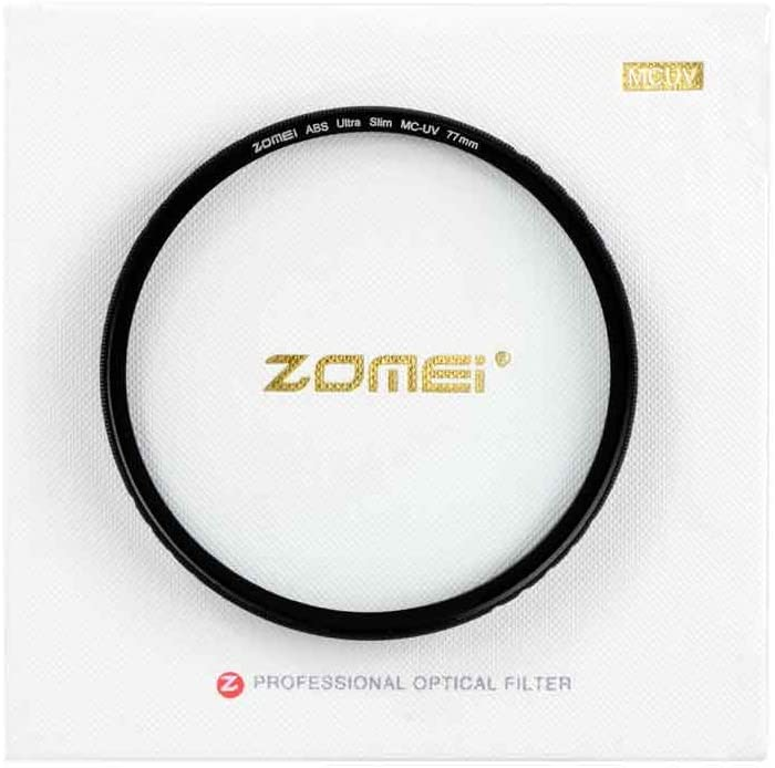 unbrand ZOMEI Ultra Slim ABS Optical Glass Protection High Definition MCUV Len Filter 49mm 52mm 67mm 77mm 82mm for Canon Nikon Sony Lens Part
