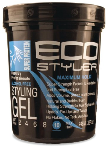 ecostyler Styling Gel Super Protein - Maximum Hold 32oz - 946 ML Eco Styler ECO28