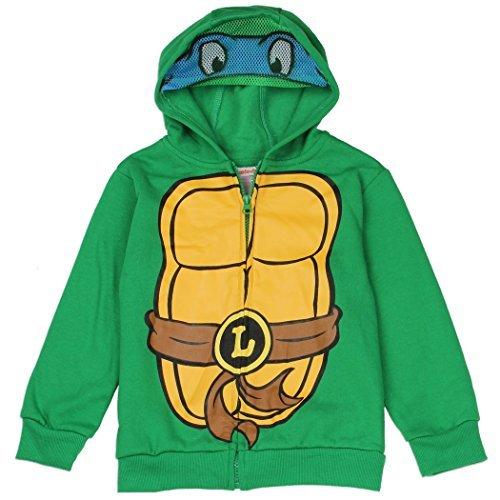 Ninja Turtles Toddler Little Boys Zip Hoodie Sweater (2T)