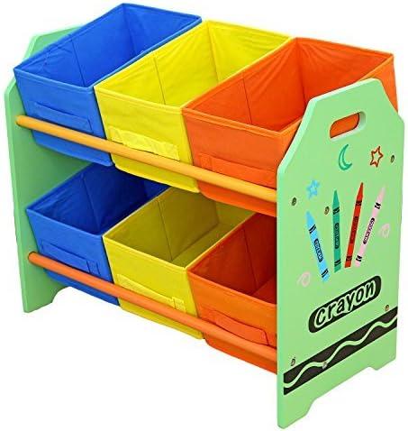 Kiddi Style Cajas Almacenaje Juguetes - Madera - Par Ninos -Diseño de ceras de colores: Amazon.es: Bebé