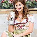 Custom Beer Mug I Love Paw My English Shepherd Dog Ceramic Drinking Glasses Beer Gifts White 18 OZ Design Only 12