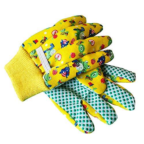 Kids Garden Gloves - PROMEDIX - 3-6 Years Old Children Gardening Gloves, 2- Pair Pack