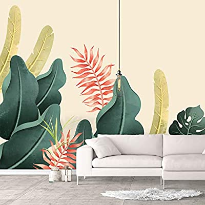 Handsome Style, That You Will Love, Wall Murals for Bedroom Green Plants Animals Removable Wallpaper Peel and Stick Wall Stickers