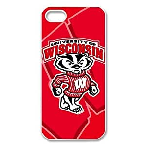 Vintage Retro NCAA Wisconsin Badgers Apple Iphone 5S/5 Case Cover snap on cases Covers