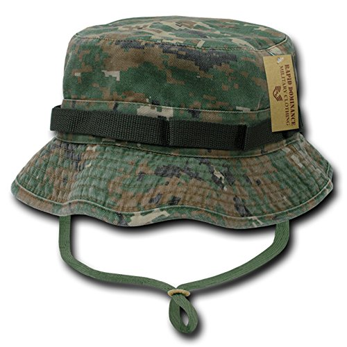 bfcb2cc2086c2 Rapid Dominance Washed Cotton Military Boonie Hat with Drawstring ...