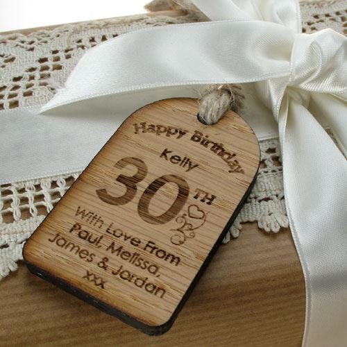 Unusual 30th Birthday Gifts For Men Wooden Tag Special Gift Mens