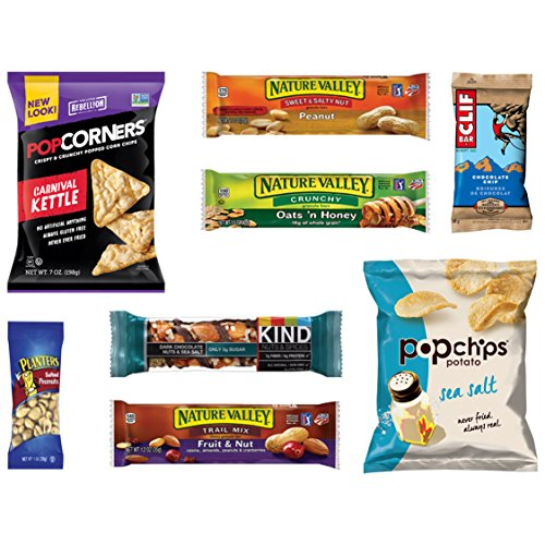 Healthy Snacks, Chips, Granola Bars Variety Sampler Assortment Gift Package (8 Count)