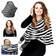Nursing Breastfreeding Cover Scarf Baby Car Seat Canopy, Shopping Cart, Stroller, Carseat Covers for Girls and Boys - Perfect Gift for BreastfeedingGift for Breastfeeding