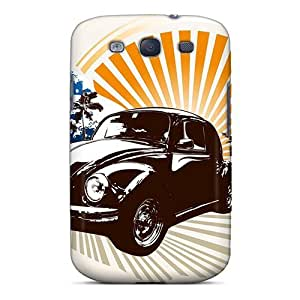 Fashion Tpu Case For Galaxy S3- Summer Bug Defender Case Cover