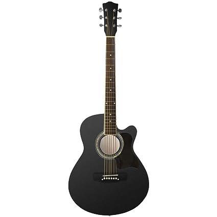 Johnny Brook Cutaway - Kit de guitarra acústica (101,6 cm), negro ...