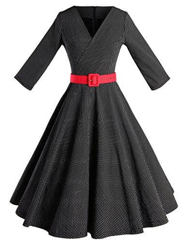 GownTown-Vintage-1950s-Polka-Dot-Swing-Stretchy-Dresses