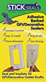 outlet insulation decora - Stick 'N' Seal Adhesive Backed GFI/ Decorative Outlet Draft Sealers. Save Energy and Money. Pack of 30