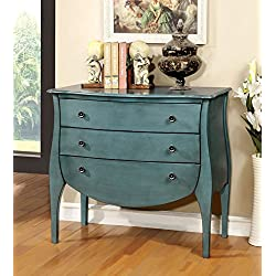 Furniture of America Delphine French Country Storage Chest, Blue