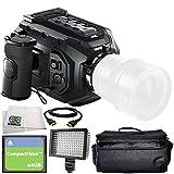 Blackmagic Design URSA Mini 4.6K Digital Cinema Camera (EF-Mount) 6PC Accessory Bundle – Includes 64GB Compact Flash Card, HDMI Cable, 160 LED Video Light, Microfiber Cleaning Cloth