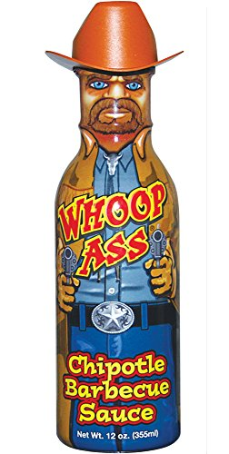 WHOOP ASS Chipotle Grilling BBQ Barbecue Hot Sauce - Try if you dare! - Perfect Gourmet Gift for the Wing Sauce Fan ()