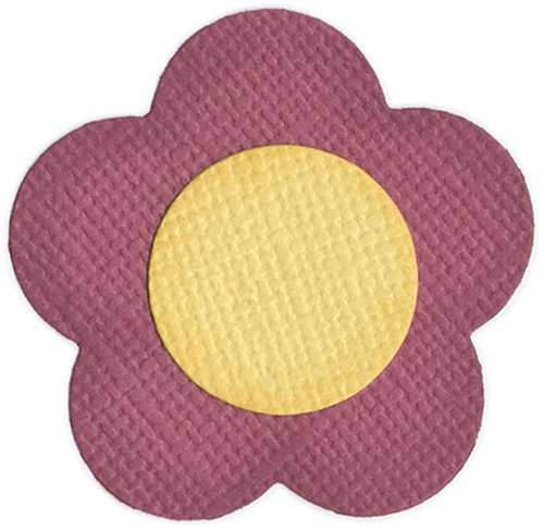 QUICKUTZ We R Memory Keepers 2 Inch by 2 Inch DoubleKutz Dies, Daisy (5 Petal)