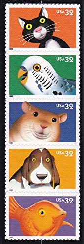 Bright Eyes Strip of 5 32c Postage Stamps - Self Adhesives - Scott 3230-3234 (Adhesive Postage)