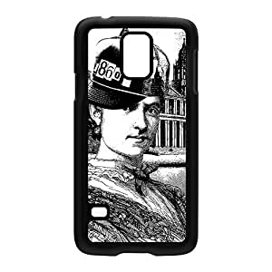 1860's Lady Black Hard Plastic Case Snap-On Protective Back Cover for Samsung? Galaxy S5 by Gangtoyz + FREE Crystal Clear Screen Protector