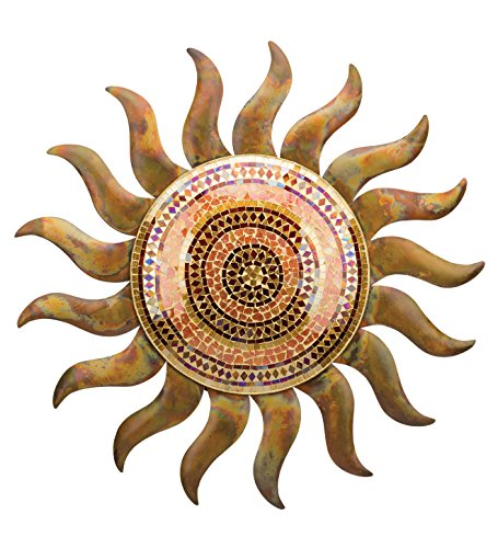 Regal Art & Gift  Metal/Glass Flamed Copper Sun Wall Decor