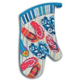 Beach Bumming Flip Flops Kitchen Dining Oven Mitt Glove image