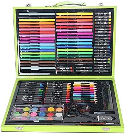 MELLRO Wasser Farbstift Für Teenager Kinder und Erwachsene Malutensilien Zeichenstifte Complete Artist Kit Pastels Geschenke für Kinder (Color : Green, Size : Free Size)