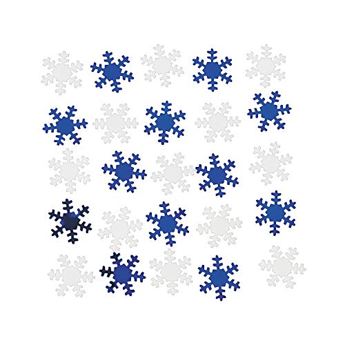Fun Express - Snowflake Confetti for Christmas - Party Decor - General Decor - Confetti - Christmas - 1 Piece