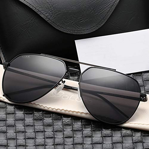 frame Conducción De Alta Definición Hombres Gafas Sol Gafas De Hombres De Gafas Sol Gris gray Black Gafas Marco Sol De Negro Gafas Polarizadas para para De Sol De FKSW PpIBwqp
