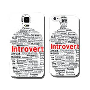 Introvert word cloud shape cell phone cover case Samsung S5