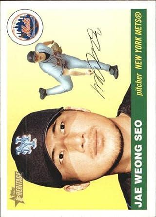 Amazoncom 2004 Topps Heritage Baseball Card 173 Jae Weong